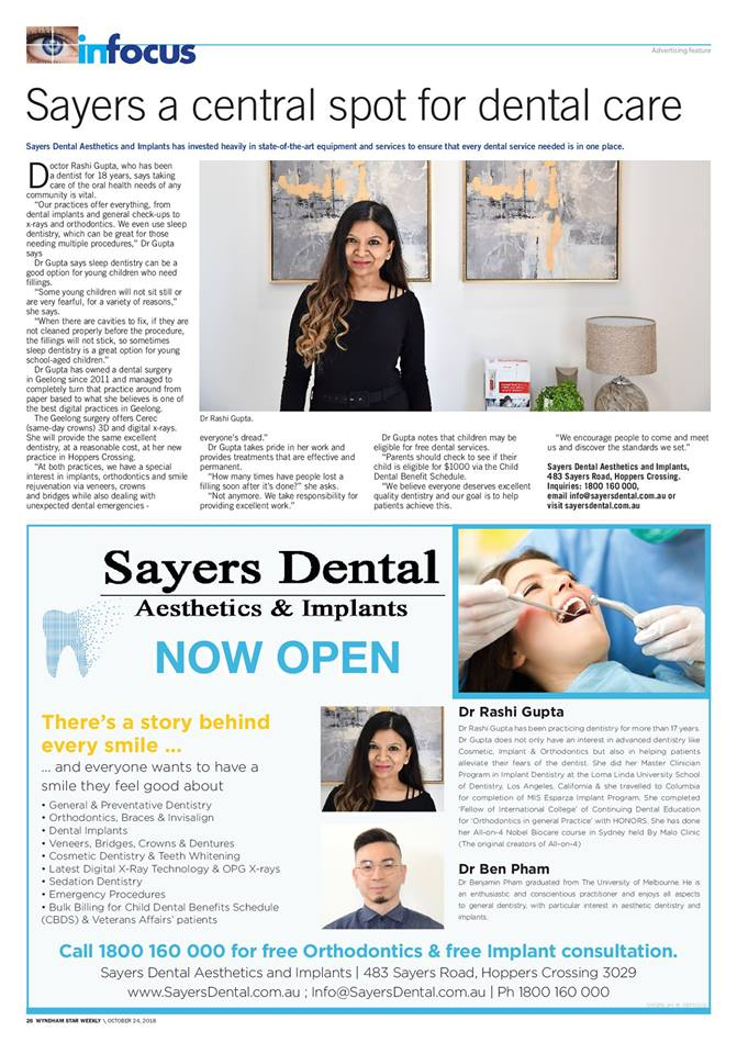 sayers a central spot for dental care magazine full