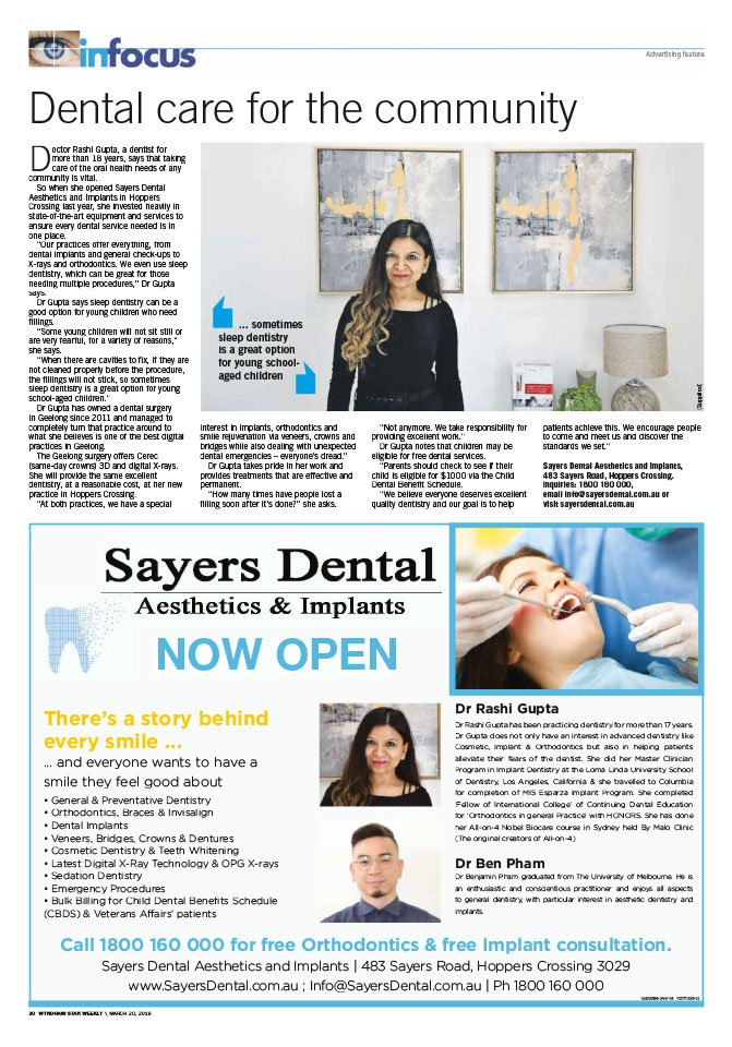 sayers dental aesthetics and implants dental care for the community magazine full