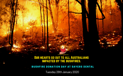 """Bushfire Donation Day"" at Sayers Dental Aesthetics & Implants (Tuesday, 28th of Jan 2020)"