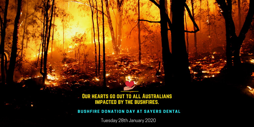 bushfire donation day at sayers dental aesthetics and implants banner