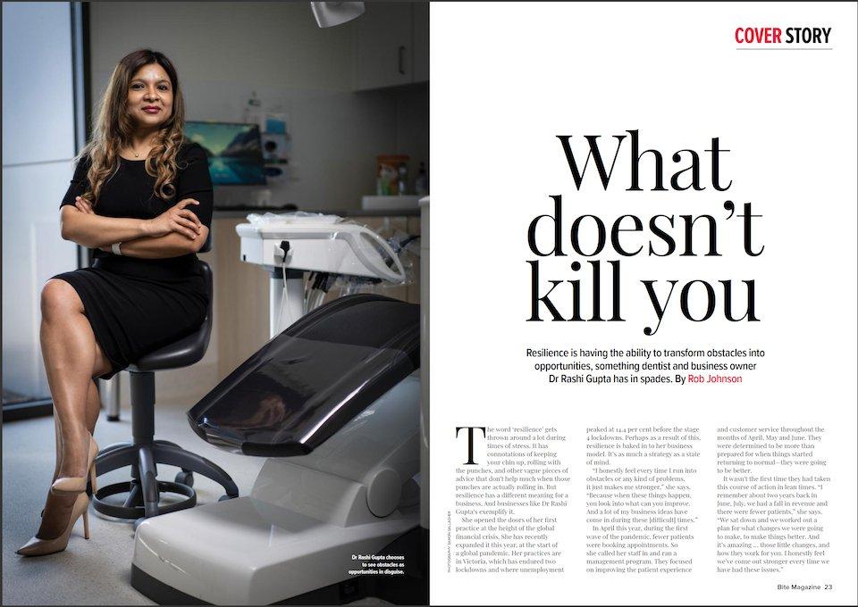 Dr Rashi Gupta Bite Magazine Story Page 22-23